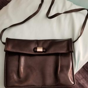 Black Leather Purse By Myers Nice Bag